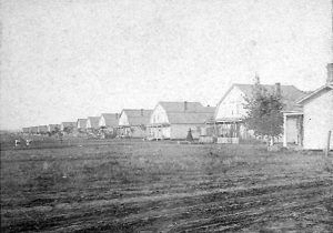 Officers' Quarters at Fort Custer, Montana, by Fort_Custer by E. F. Everitt