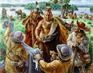 Osage traders by Charles Banks Wilson, courtesy of the artist