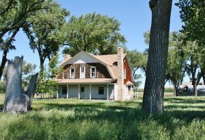 Two-story house on the PN Ranch, Montana courtesy American Prairie Reserve