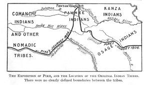 Pike Expedition in Kansas Map