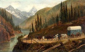 Prairie Schooner in the Selkirk Mountains, c. 1887, by Edward Roper