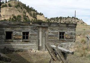 Reconstructed Robidoux Trading Post near Gering, Nebraska