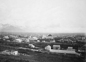 Salt Lake City by Carleton E. Watkins, about 1880