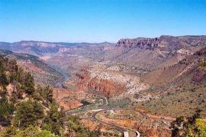 Salt River Canyon courtesy of the Pickle Barrel Trading Post