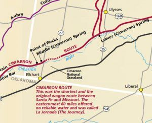 Cimarron Branch of the Santa Fe Trail in Kansas