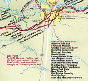 Santa Fe Trail Map, Johnson County, Kansas