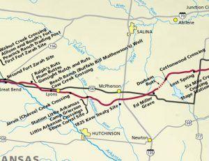 Santa Fe Trail through Marion County, Kansas