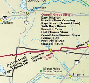 Santa Fe Trail through Morris County, Kansas