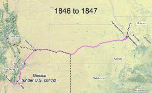 Santa Fe Trail Map, 1846-1847