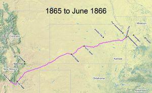 Santa Fe Trail Map 1865-66