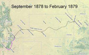 Santa Fe Trail Map, 1878-1879