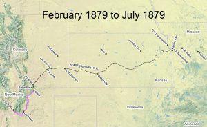 Santa Fe Trail, 1879