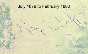 Santa Fe Trail Map 1879-80