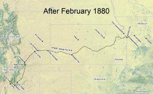 Santa Fe Trail Map 1880