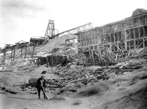 Montgomery-Shoshone Mine near Rhyolite, Nevada.