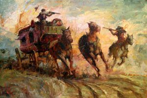 Stagecoach Robbery by Phil Lear