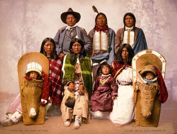 Ute Indians by the Detroit Photographic Company