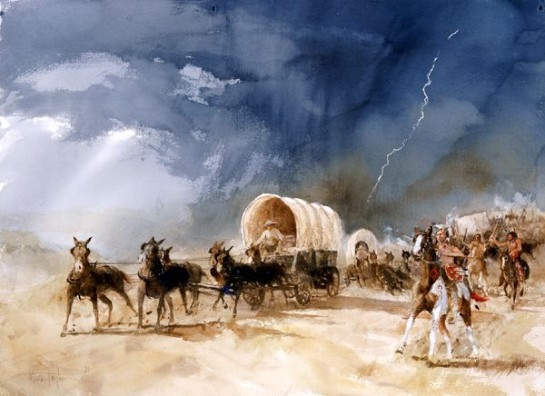 Warren Wagon Train Raid by BuckTaylor