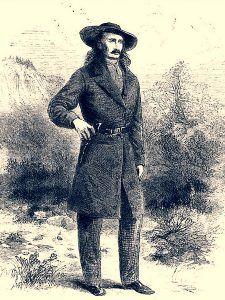 Wild Bill Hickok illustration from Harper's New Monthly Magazine, February, 1867.