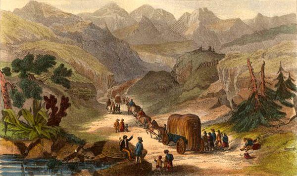 California Goldrush Wagon Train