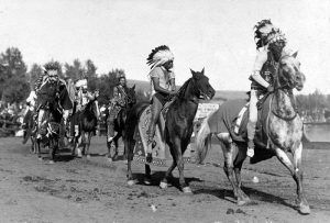 Cayuse Indian Warriors by W.S. Bowman, 1910