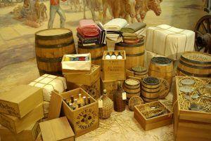 Supplies headed for Santa Fe, courtesy the Kansas Historical Society