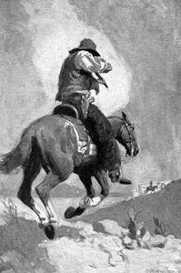 Western manhunt by John W. Newton, appeared in The Story of the Outlaw..