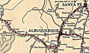 1927 Albuquerque Map