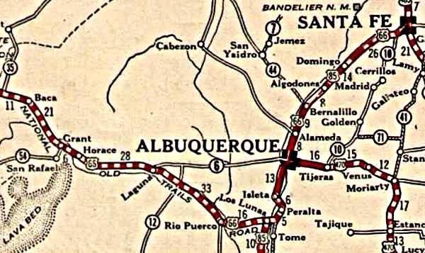 Route 66 Pre 1937 Alignment In New Mexico Legends Of America