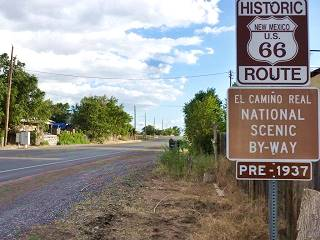 Route 66 Sign in Algodones, New Mexico