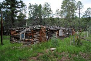 Ruins of the old Arrowhead Camp on Route 66 by Kathy Weiser-Alexander
