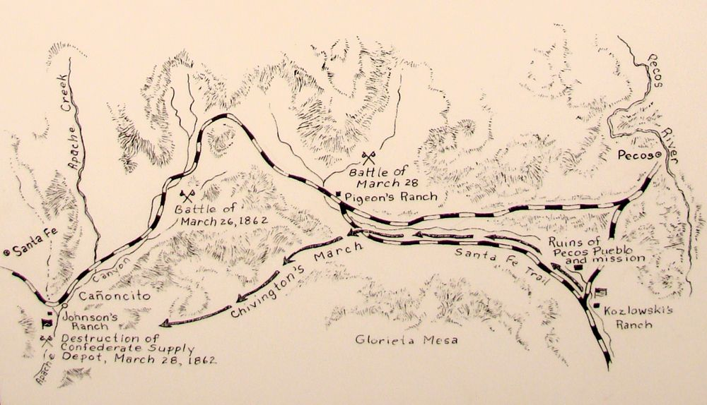 Battle of Glorieta Pass Map