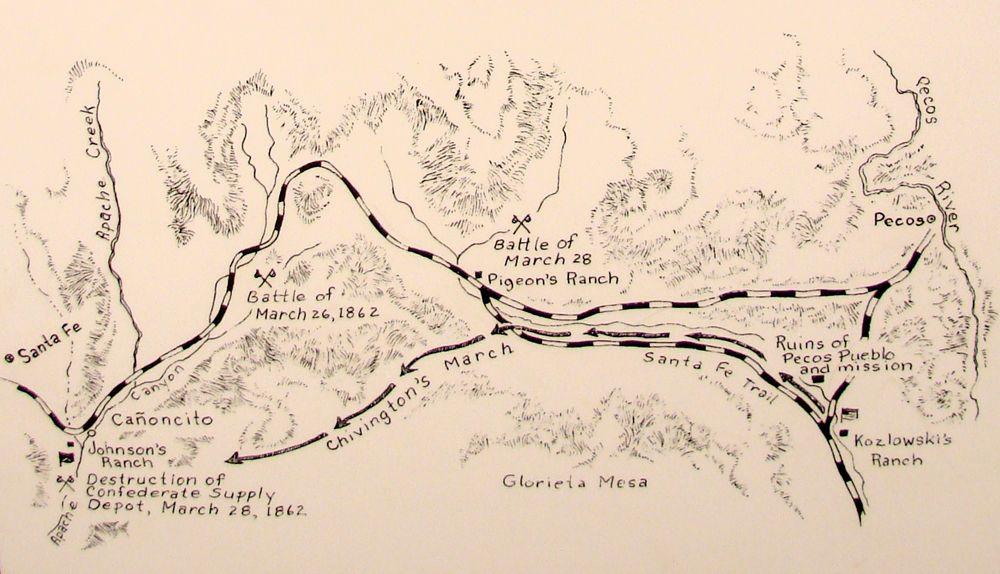 Battle of Glorieta Pass Map