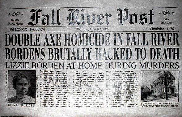 Fall River Newspaper regarding the Borden murders