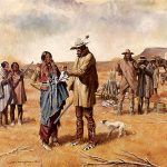 Comanchero trading with Indians by Bill Hughes