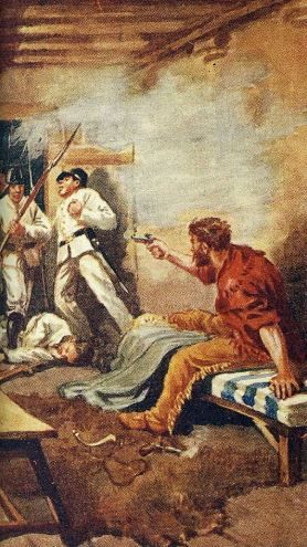 Death of James Bowie by Charles A. Stephens
