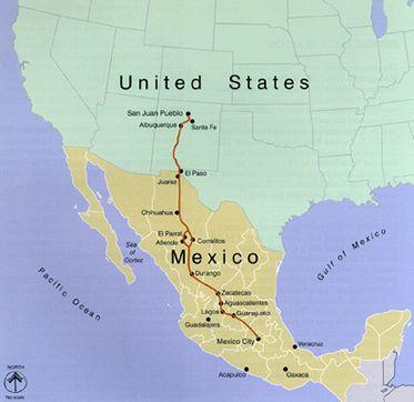 El Camino Real de Tierra Adentro Map
