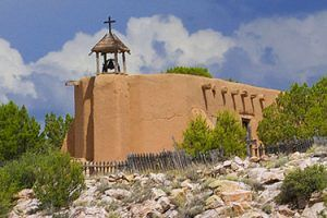 Church at El Rancho de los Golondrinas, New Mexico courtesy Casa Condida