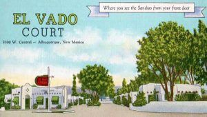 Historic El Vado Motel Postcard