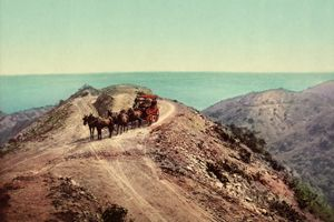 California Stage Road on Santa Catalina Island, by the Detroit Publishing Company, 1899.