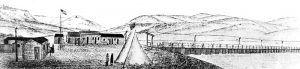Fort Platte Station and Bridge, 1863