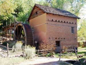 Working Mill at El Rancho de las Golondrinas, courtesy Inside Santa Fe