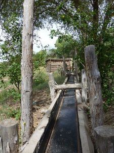 Acequia Flume at El Rancho de los Golondrinas, courtesy Wikipedia
