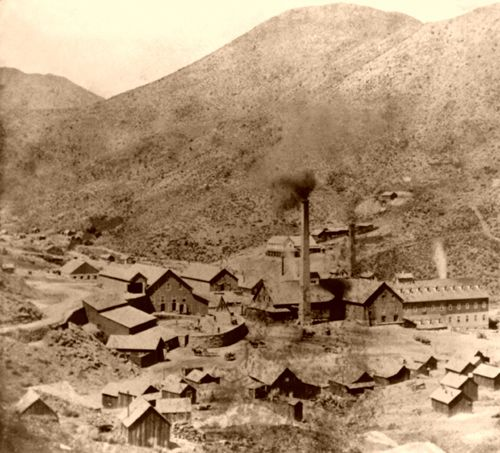 Gould & Curry Mine in Virginia City, Nevada, Lawrence & Houseworth, 1866.