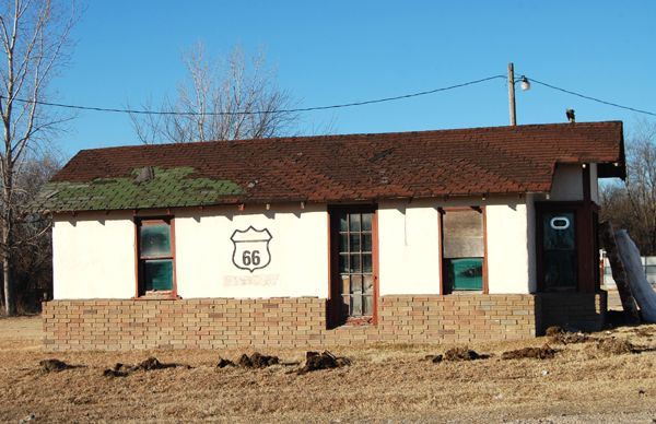 Old Route 66 Diner in Kellyville, Oklahoma.