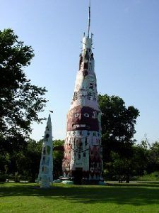World's Largest Concrete Totem Pole near Foyil, Oklahoma, by Kathy Weiser-Alexander.