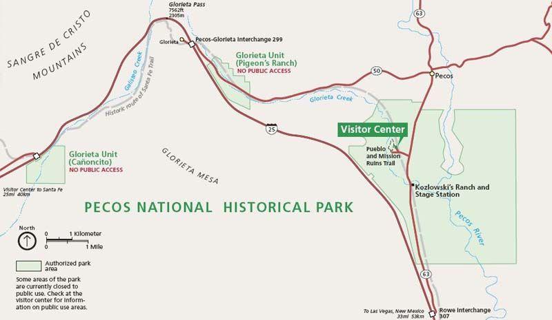 Pecos National Park Map