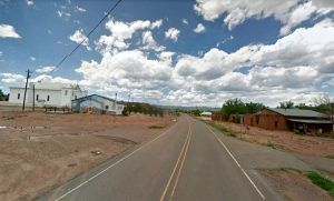 The village of San Miguel, New Mexico today, courtesy Google Maps