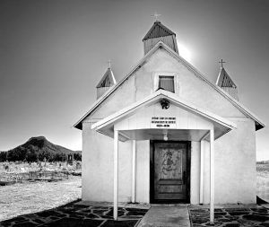 Santa Rita Chapel in Bernal, New Mexico, by by Mark Goebel, Saatchi Art