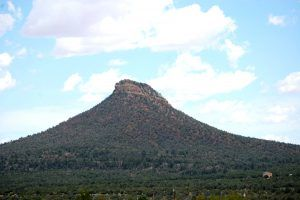 Starvation Peak, also known as Bernal Hill, just south of Bernal, New Mexico, by Kathy Weiser-Alexander
